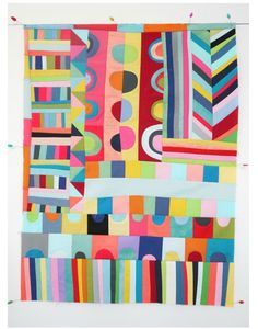 love these modern colorful quilts!