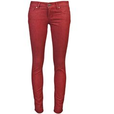 PAIGE Verdugo ultra skinny jean ($179) ❤ liked on Polyvore featuring jeans, pants, bottoms, pantalones, calças, red skinny jeans, faded jeans, 5 pocket jeans, skinny jeans and red skinny leg jeans