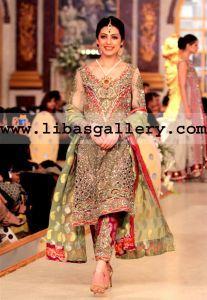 Pantene Bridal Couture Week 2014 Shazia Kiyani Latest Pakistani Party Dresses Collection Los Angeles California Wedding Formal Party Wear