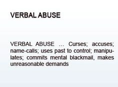 Meaning of verbal abuse