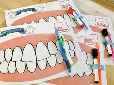 Health Activities, Preschool Learning Activities, Toddler Activities, Pinterest Crafts For Kids, Dental Pictures, Dental Hygiene School, Dental Health Month, Dental Kids, Toddler Art Projects