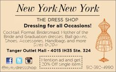 Dressing for all Occasions!     Cocktail, Formal, Bridesmaid, Mother of the Bride and Grad... | New York, New York The Dress Shop - San Marcos, TX #texas #SanMarcosTX #shoplocal #localTX
