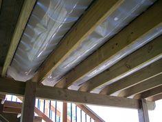 Southeastern Michigan Under Deck Drainage System by GM Construction in Howell, MI Under Deck Roofing, Patio Under Decks, Under Deck Drainage System, Under Deck Ceiling, Under Deck Storage, Michigan, Custom Decks, Roof Deck, Deck Railings