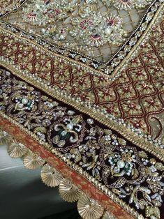 Asifa&Nabeel Zardosi Embroidery, Couture Embroidery, Embroidery Motifs, Hand Embroidery Designs, Embroidery Dress, Beaded Embroidery, Indian Embroidery, Pakistani Wedding Outfits, Gold Work