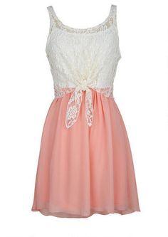 Tie Front High-Low Dress