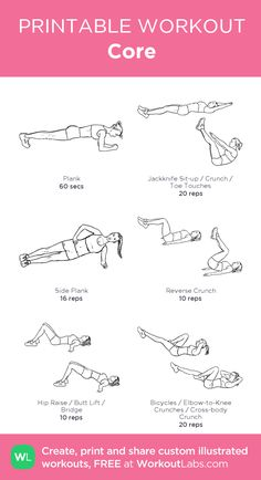 Core: my visual workout created at WorkoutLabs.com