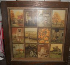Vintage Homco Home Interior Interiors Window Pane Picture Fall ...