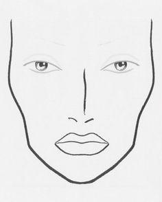 makeup templates face | blank makeup face chart photo macfacechart.jpg