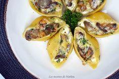 Ma cuisine au fil de mes idées...: Conchiglioni farcis au lard, champignons et Reblochon