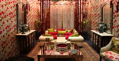 Inspired by Empress Nur Jehan, we created a sumptuous sleep pavilion fit for a queen at India Design 2013. Our founder Anita Lal spoke on 'Craft in the Contemporary' at the ID2013 Symposium, alongside celebrated design leaders Michael Aram and Lidewij Edelkoort. #Indiandecor #Indiandesign #roses #Kashmir #Mughal #Indiantextiles #bespokewallpaper #FarahBaksh #luxury