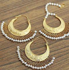 Gold Jewelry, Jewellery, Crochet Earrings, Fashion Jewelry, Drop Earrings, Indian, Jewels, Trendy Fashion Jewelry, Gold Jewellery