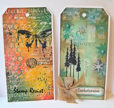 Tags from Day Card Tags, Gift Tags, Handmade Tags, Paper Tags, Artist Trading Cards, Christmas Tag, Xmas Cards, Tag Art, Scrapbook Embellishments