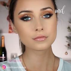 Who doesn't love a smokey gold look! Who doesn't love a smokey gold look! Bridal Makeup Videos, Bridal Makeup For Blondes, Bridal Eye Makeup, Wedding Day Makeup, Bridal Makeup Looks, Indian Bridal Makeup, Gorgeous Makeup, Love Makeup, Makeup Tips