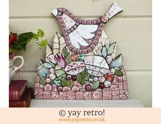 Fiona Gurney Box of Frogs Mosaics: Large Mosaic Bird Wall Plaque (£62.00)