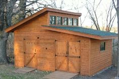 12' x 18' with a double-slanted roof