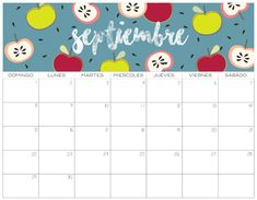 Calendario 2019 GRATIS   Imprimibles Cute Calendar, 2021 Calendar, Monthly Planner, Im Happy, Creative Crafts, Just Do It, September, Banner, Stationery