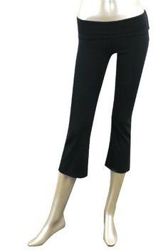 Capri Yoga Pants with Fold Over Waist. 92%Cotton 8% Lycra. 3 Colors, Junior Sizes S-M-L Private Label. $11.95