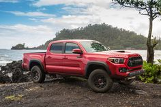 Toyota's TRD Pro off-road package on its Tacoma, Tundra and SUV adds an impressive dynamic to the trio, and is a favorite among consumers. Toyota Tacoma Price, Toyota Tacoma Sport, Toyota Tacoma For Sale, Toyota Tacoma Trd Pro, Toyota Trucks, Toyota Cars, Toyota Celica, Toyota Supra, Toyota 4x4