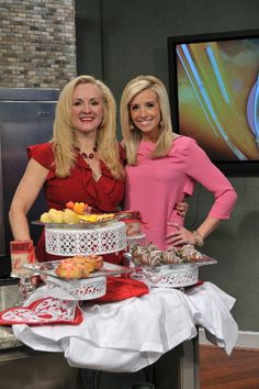 Darcy and Kacy Hagerty making a yummy breakfast on More at Midday. www.darcydiva.com
