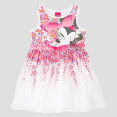 Baby Girls' Minnie Mouse A Line Dress Disney Eggshell 12M, Infant Girl's, Size: 12 M, Beige