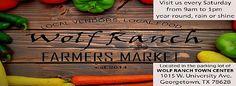 Shop Fresh & Local with Wolf Ranch Farmers Market #Georgetown #farmersmarket