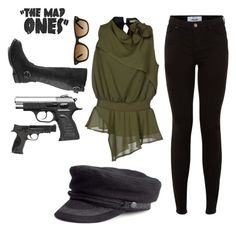 """Untitled #167"" by bleeding-neverland on Polyvore featuring New Look, No-Nà, Ray-Ban and Smith & Wesson"