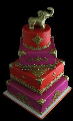 Butterfly Bakeshop Elephant Wedding Cake - The Big Fat Indian Wedding