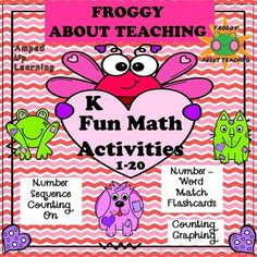 Kindergarten Valentine Math Activities - Amped Up Learning Teaching Reading, Teaching Math, Teaching Ideas, Learning, Creative Teaching, Vocabulary Activities, Math Resources, History Classroom, Kindergarten Lessons