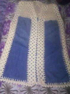 Crochet Top, Crochet Baby, Crochet Shirt, Fabric Combinations, Poncho Shawl, Farmer, Knitwear, Denim Jeans, Sewing Projects