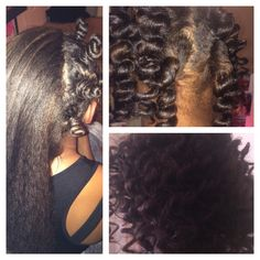 Bantu knots on blow dried, natural hair #naturalhair #naturalhairstyles