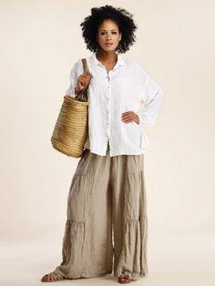 Linen Gauze Shirt by LUNA LUZ at Hello Boutique