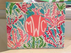 """Lilly Pulitzer inspired """"Lets Cha Cha"""" Monogrammed 8x10 Canvas on Etsy, $20.00"""