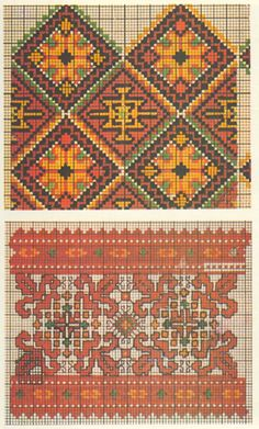 Unfortunately the link is broken, for inspiration only. Cross Stitch Borders, Cross Stitch Charts, Cross Stitching, Cross Stitch Patterns, Folk Embroidery, Cross Stitch Embroidery, Embroidery Patterns, Blackwork, Knitted Mittens Pattern
