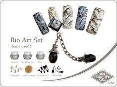Jeweled marble art set Bio Sculpture, Nails 2017, Bio Art, Nail Jewelry, Marble Art, Nail Art Galleries, Dog Tag Necklace, Jewels, Image