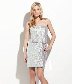 Laundry by Shelli Segal Strapless Sequin Dress #Dillards