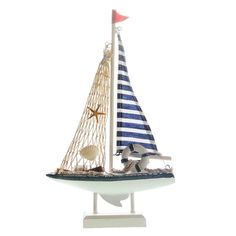 UNIQUEBELLA Handmade Vintage Nautical Decor Sailor Wooden Sailboat Ship BOAT Model Decoration S >>> Check out this great image  : Home Decorative Accessories