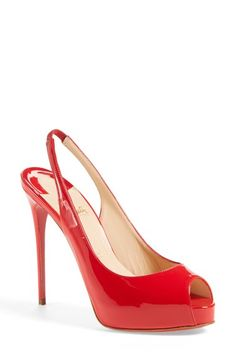 Christian Louboutin 'Private Number' Peep Toe Slingback Pump available at #Nordstrom