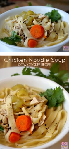 Easy Slow Cooker Chicken Noodle Soup Recipe
