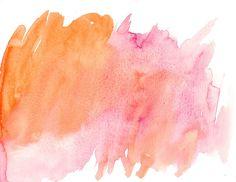 Aquarela, Textura, Rosa, Orange, Abstract, Fundo