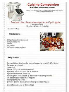Fondant chocolat et mascarpone