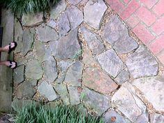 Pathway idea from The Plumlee Gardens Victory Garden, Walkways, Bricks, Paths, Gardens, Backyard, Design, Catwalks, Patio