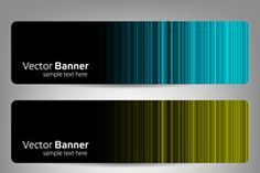 Color light banner vector
