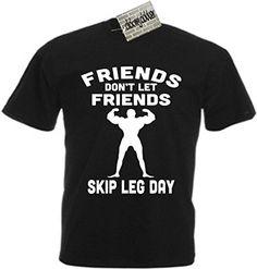 Friends Don't Let Friends Skip Leg Day Men's Cotton T-Shirt Funny Gym Workout Weights