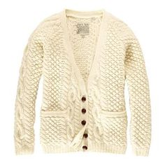 I wore Fisherman's sweaters like this one as a child!