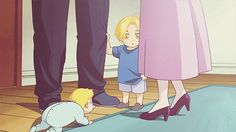They were so cute when they were little!!! | Edward and Alphonse Elric
