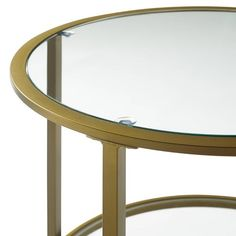 Everly Quinn Legette Glass Top End Table with Storage , Glass Top End Tables, Mirrored End Table, End Tables With Storage, Wood Plant Stand, Tempered Glass Shelves, Round Side Table, Wood Dust, Faux Stone, Steel Frame