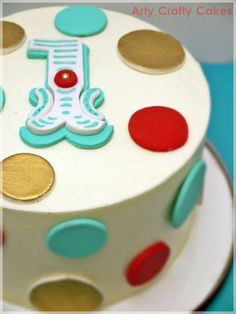 Circus cake & cupcakes - by ArtyCraftyCakes @ CakesDecor.com - cake decorating website