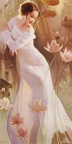 "art-and-dream: "" Art painting wonderful style by V a l u e v a "" Kunst Tattoos, Decoupage, Galerie D'art, Dream Art, Dream Live, Fine Art Gallery, Beautiful Paintings, Love Art, Female Art"