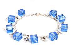 Bransoletka - szkło weneckie sześciany - chained lampwork cubes bracelet http://corallia.pl/bransoletki/bransoletka-szklo-weneckie-szesciany.html#.VNn40S7Hg2g
