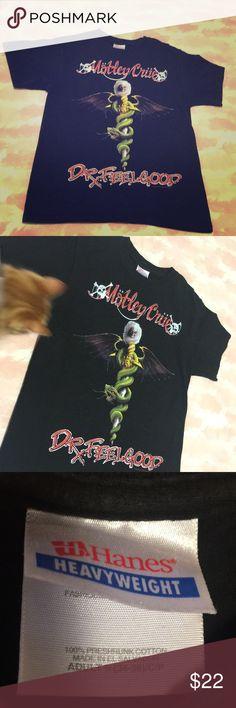 2003 Motley Crue Dr. Feel Good Tee🤘Ready to rock Great Motley Crue 2001 XS Dr. Feel Good T Shirt . Sweet front & rear logos . Light wear . Hanes Heavyweight , ready to rock  🎸 Vintage Tops Tees - Short Sleeve